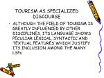 tourism as specialized discourse7