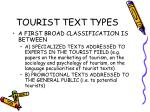 tourist text types