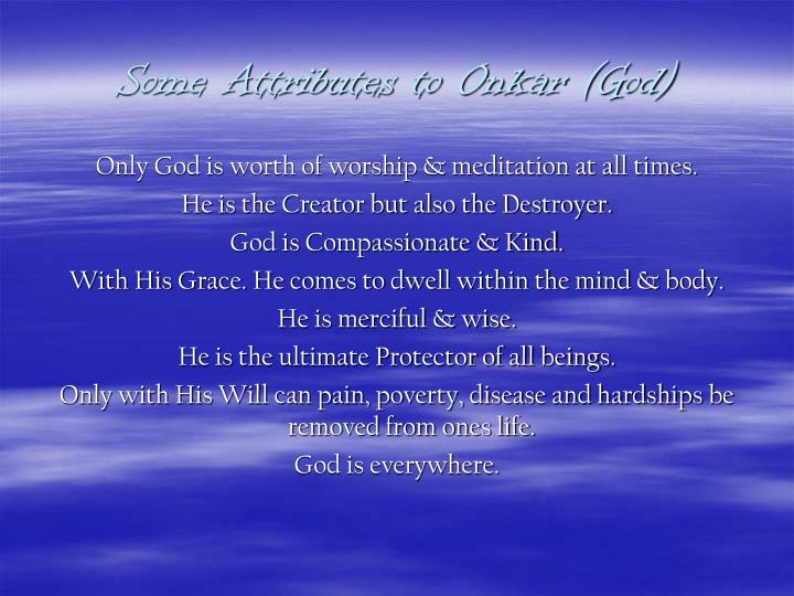 Some Attributes to Onkar (God)