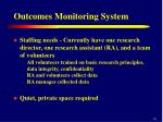 outcomes monitoring system11