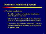 outcomes monitoring system12