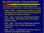 research activities external projects