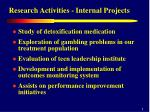 research activities internal projects