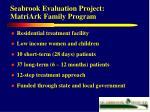 seabrook evaluation project matriark family program