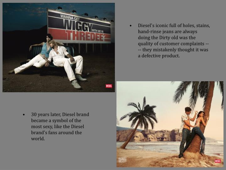 Diesel's iconic full of holes, stains, hand-rinse jeans are always doing the Dirty old was the quali...