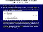 confidence intervals for regression coefficients 1 and 2
