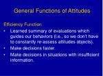 general functions of attitudes41