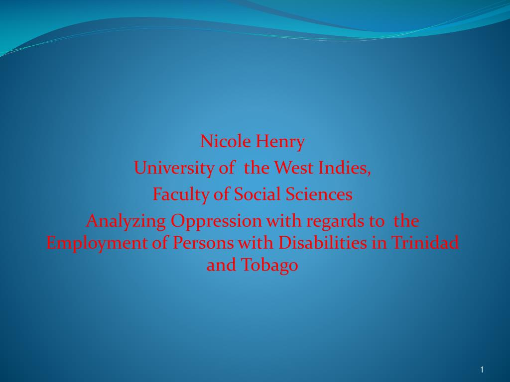 disability and unemployment in trinidad and tobago l.
