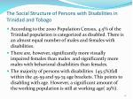 the social structure of persons with disabilities in trinidad and tobago