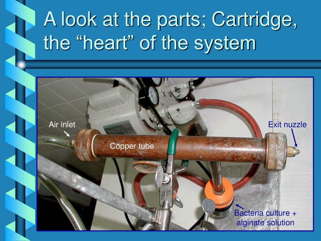 "A look at the parts; Cartridge, the ""heart"" of the system"
