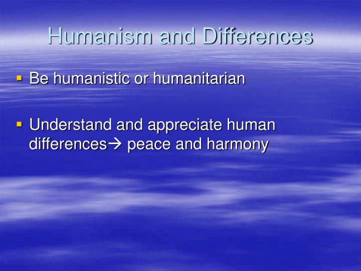 Humanism and Differences