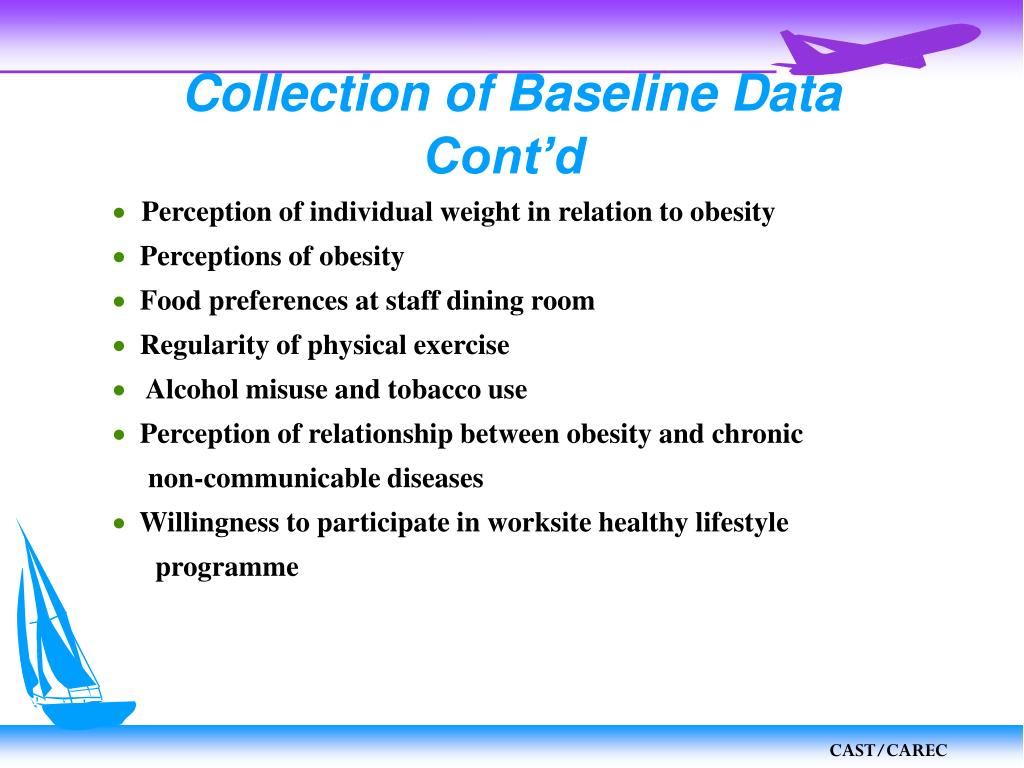 Collection of Baseline Data