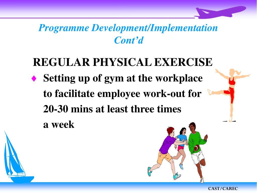 Programme Development/Implementation
