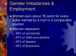 gender imbalances employment