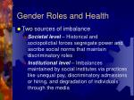 gender roles and health