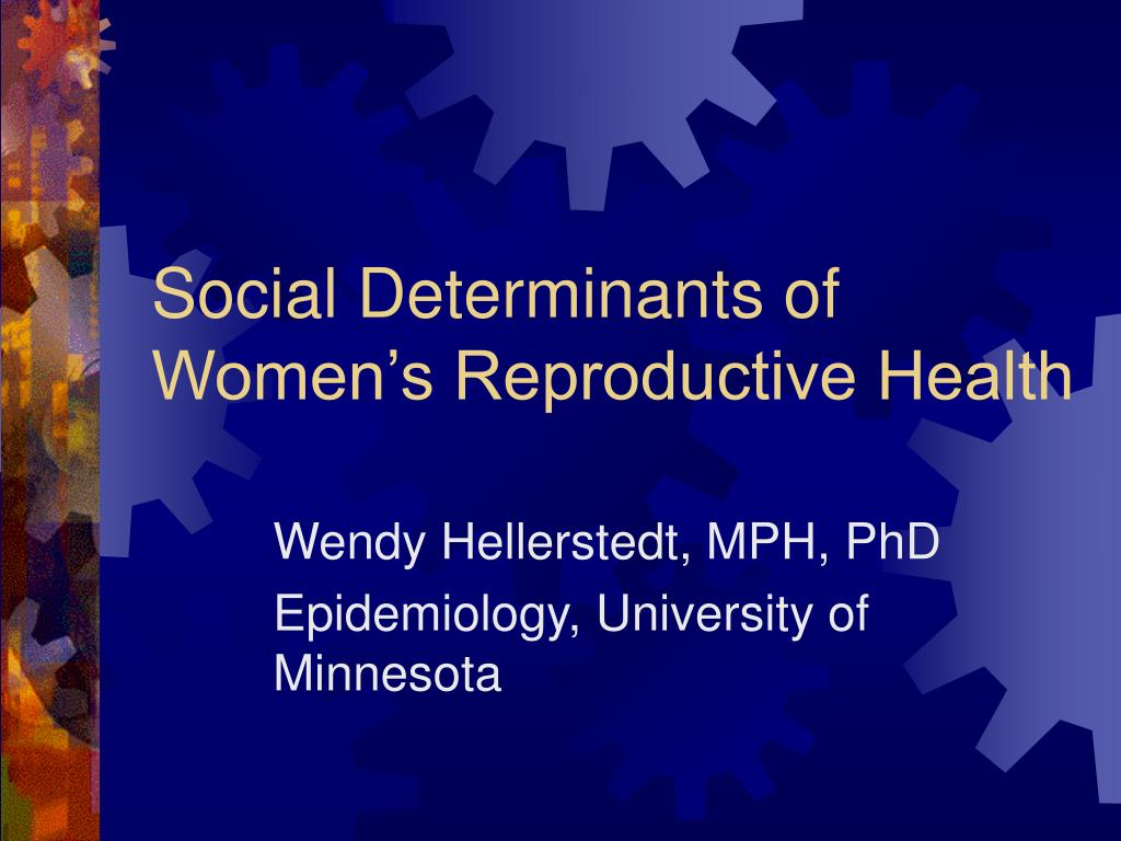 social determinants of women s reproductive health l.