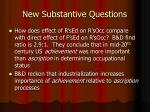 new substantive questions