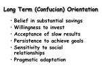 long term confucian orientation