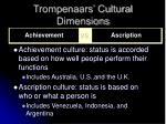 trompenaars cultural dimensions13