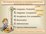 inter cultural competence is a developmental process bennett bennett in allard p 10