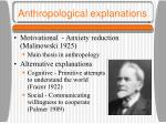 anthropological explanations
