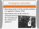 ecological rationality
