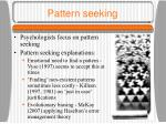 pattern seeking