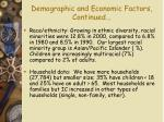 demographic and economic factors continued