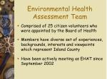 environmental health assessment team