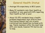 general health status16