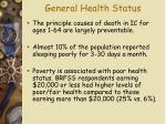 general health status17
