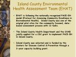 island county environmental health assessment team ehat