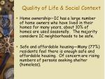 quality of life social context12
