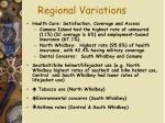 regional variations65