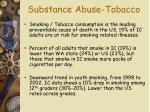 substance abuse tobacco