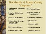 the health of island county chapters