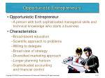 opportunistic entrepreneurs