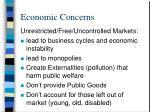 economic concerns