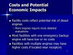 costs and potential economic impacts