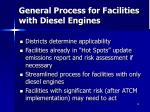 general process for facilities with diesel engines