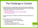 the challenge in context
