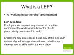what is a lep