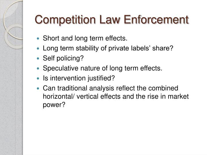Competition Law Enforcement