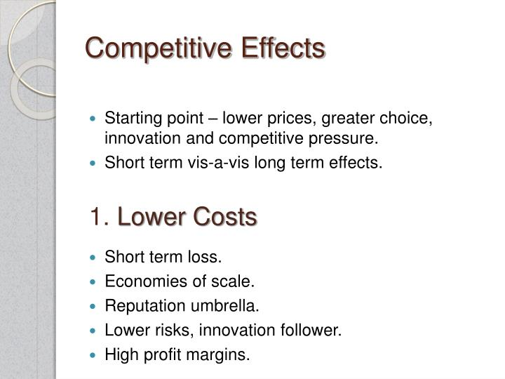 Competitive Effects