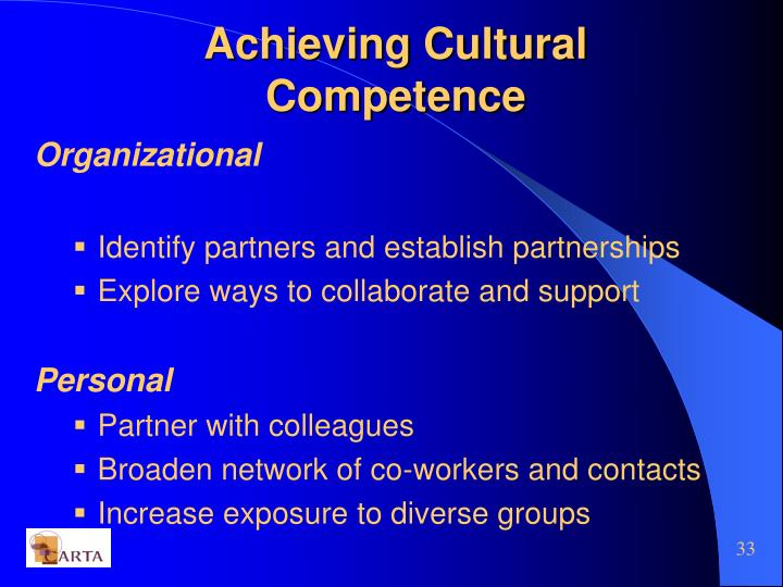 personal experience on cultural competency