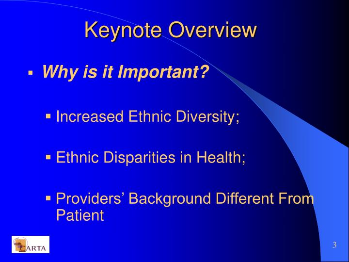 Keynote overview1