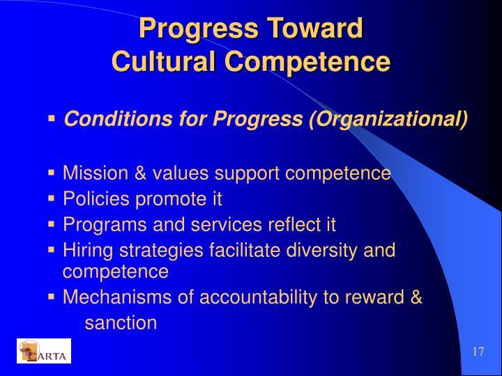 Progress Toward