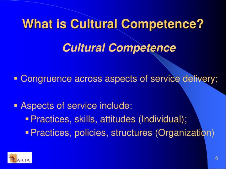 What is Cultural Competence?