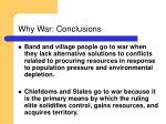 why war conclusions