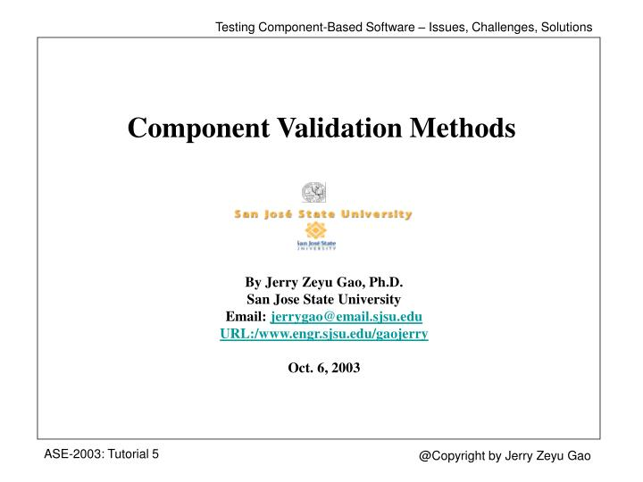 component validation methods n.